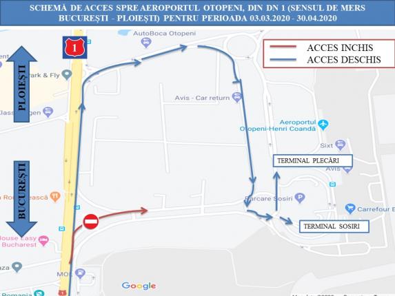 Atenție șoferi Intrarea Către Aeroportul Otopeni Dinspre